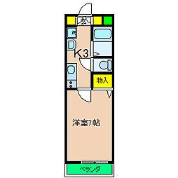 神奈川県横浜市保土ケ谷区岩崎町の賃貸マンションの間取り