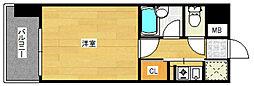 ピュアドームエスパルシア博多[4階]の間取り