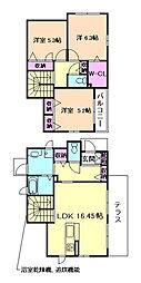 [一戸建] 大阪府豊中市桜の町6丁目 の賃貸【/】の間取り
