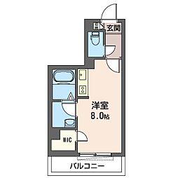 仮)大田区南馬込1丁目シャーメゾン 2階ワンルームの間取り