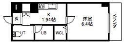 北海道札幌市中央区大通西13丁目の賃貸マンションの間取り