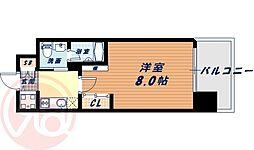 Osaka Metro長堀鶴見緑地線 西大橋駅 徒歩3分の賃貸マンション 7階1Kの間取り
