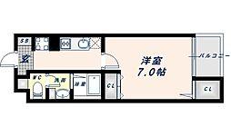 Osaka Metro谷町線 阿倍野駅 徒歩14分の賃貸マンション 5階1Kの間取り