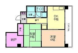 クレール桜塚[2階]の間取り