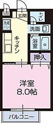 愛知県岡崎市小針町の賃貸アパートの間取り
