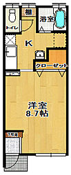 LOBBY HOUSE[101号室]の間取り