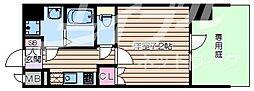 大阪府大阪市浪速区桜川4丁目の賃貸マンションの間取り