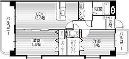 コスモ松島[802号室]の間取り
