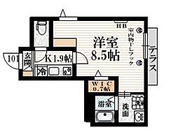 (仮称)豪徳寺1丁目メゾン 1階1Kの間取り
