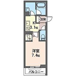 仮)幸区柳町シャーメゾン 4階1Kの間取り
