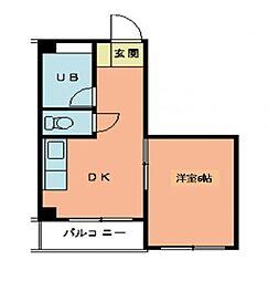 第2城西ビル[207号室]の間取り