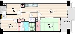 板宿グリーンタウン[11階]の間取り
