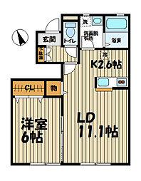 グランクロワ鎌倉[1階]の間取り