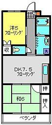 神奈川県横浜市港北区高田東2丁目の賃貸マンションの間取り