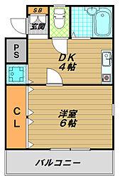トーカン須磨神撫町キャスティール[4階]の間取り