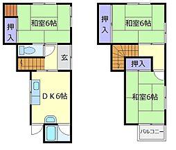[一戸建] 大阪府堺市中区陶器北 の賃貸【/】の間取り