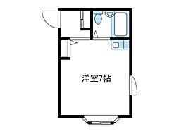 神奈川県厚木市三田の賃貸アパートの間取り