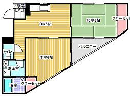 ホリホック[3階]の間取り