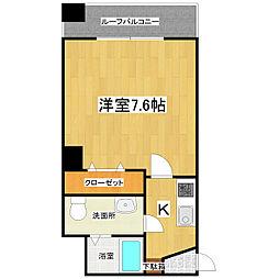 JR京浜東北・根岸線 西川口駅 徒歩4分の賃貸マンション 10階1Kの間取り