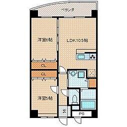 E.POPULAR II[6階]の間取り