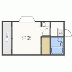新室見JMハウス[103号室]の間取り
