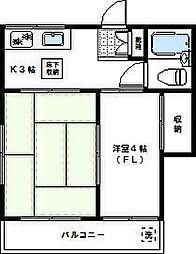 神奈川県川崎市高津区溝口5丁目の賃貸アパートの間取り