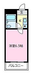 ヤマトガーデン松原[3階]の間取り