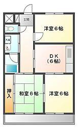愛知県豊田市京町1の賃貸マンションの間取り