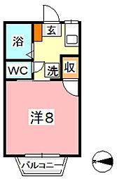 サンサンアイ A[1階]の間取り
