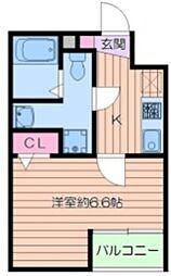 (仮称)葛飾区小菅4丁目共同住宅新築工事 1階1Kの間取り