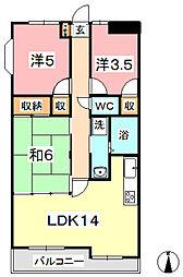 亀山ビル 100[305号室]の間取り
