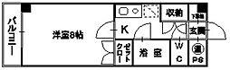 ベルトピアエグゼ南福岡[306号室]の間取り