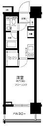 東京メトロ有楽町線 豊洲駅 徒歩8分の賃貸マンション 10階1Kの間取り
