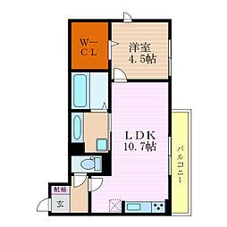 滋賀県彦根市駅東町の賃貸アパートの間取り