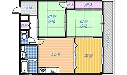 南埜第1マンション[2階]の間取り