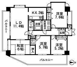 ロワールマンション原南[701号室]の間取り