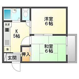 シーサイドコーポトキワ[2階]の間取り