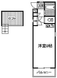 フローラFUJI  B[205号室]の間取り