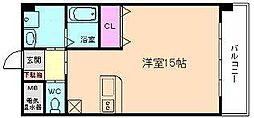 大阪府大阪市東淀川区北江口2丁目の賃貸マンションの間取り