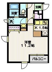京王井の頭線 東松原駅 徒歩5分の賃貸マンション 3階1Kの間取り