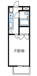 神奈川県海老名市国分南2丁目の賃貸アパートの間取り