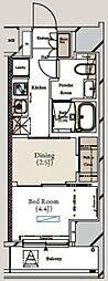 ミュプレ月島 4階1DKの間取り