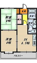アビタシオン・アラガネ[6階]の間取り