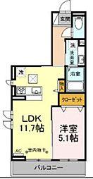 JR中央線 豊田駅 徒歩7分の賃貸アパート 1階1LDKの間取り