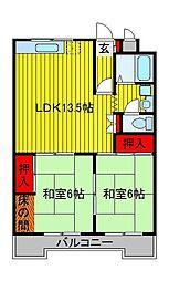 菊水マンション[2階]の間取り