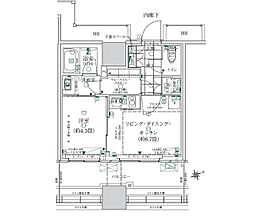 JR山手線 浜松町駅 徒歩10分の賃貸マンション 3階1LDKの間取り
