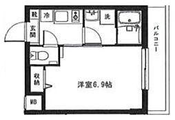モン・シャトー中野新橋 3階1Kの間取り