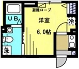 Sincrease西新宿 2階1Kの間取り