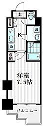 CREVISTA代田橋 5階1Kの間取り