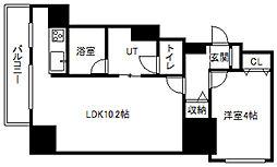 北海道札幌市中央区大通東7丁目の賃貸マンションの間取り